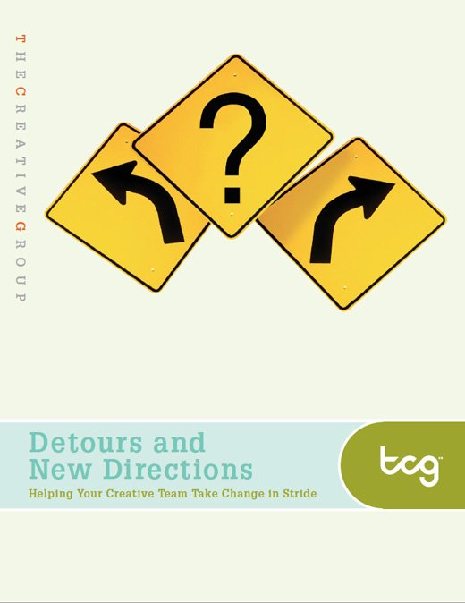 The cover of The Creative Group's white pages Detours and New Directions