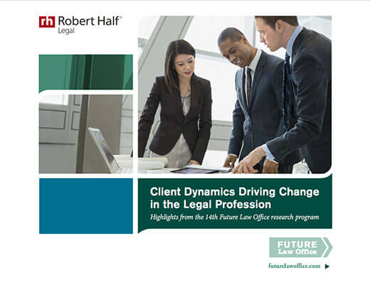 A thumbnail of the cover of the report, Client dynamics Driving Change in the Legal Profession