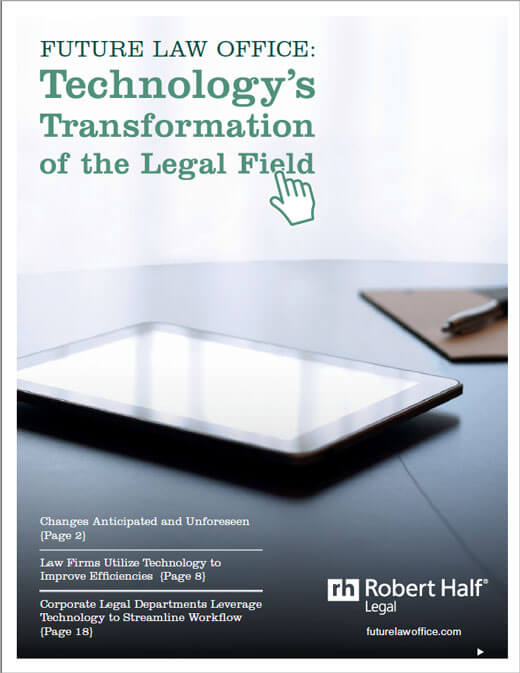 Technology's Transformation of the Legal Field