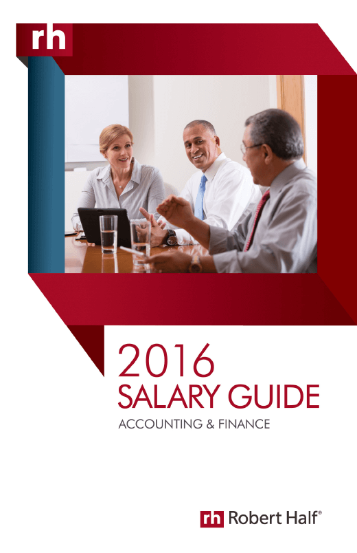 2016 Accounting and Finance Salary Guide Cover