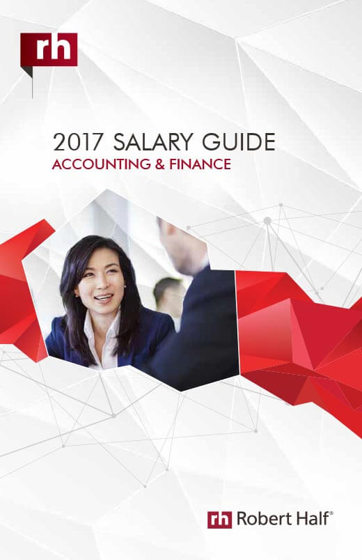 The cover of the 2016 Salary Guide for Accounting and Finance