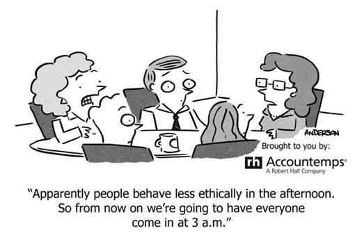 Morality At Work Cartoon