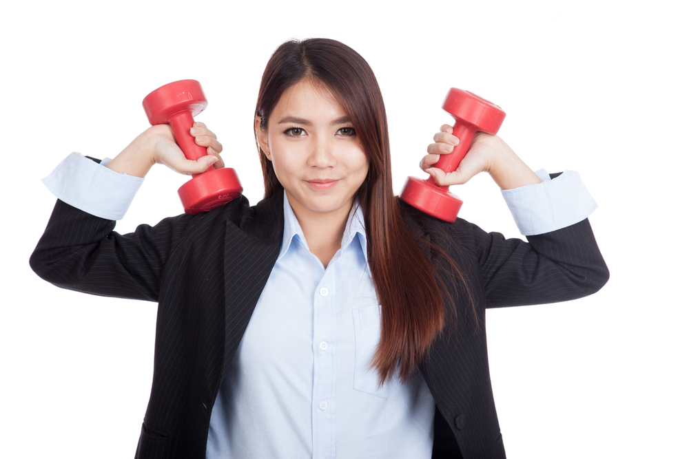 Strength training exercises at your desk