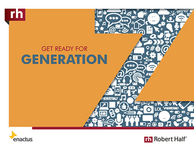 The cover of Get Ready for Generation Z from Robert Half