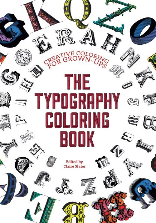 Typography coloring book cover