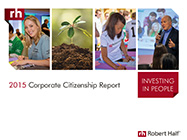 The cover of Robert Half's 2015 Corporate Citizenship Report