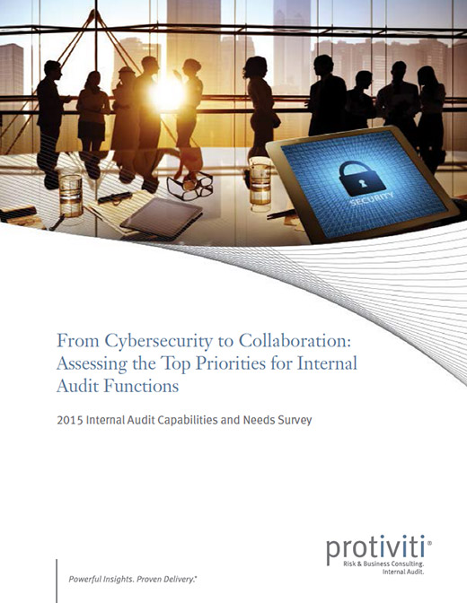 A thumbnail of the cover of the Robert Half report, Survey: Assessing the Top Priorities for Internal Audit Functions
