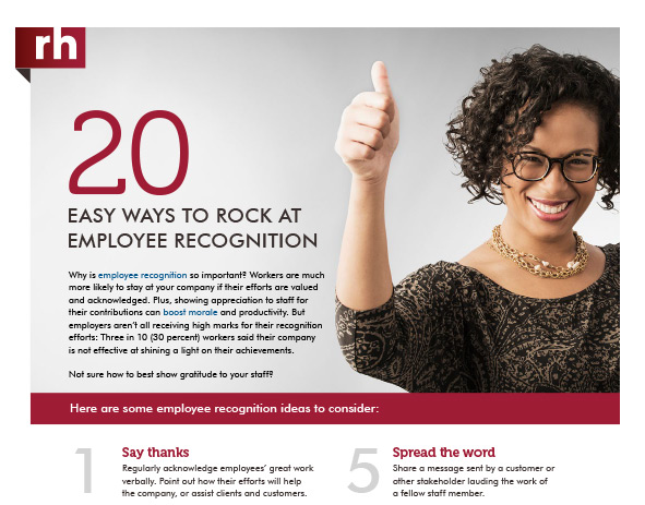 20 Easy Ways to Rock at Employee Recognition