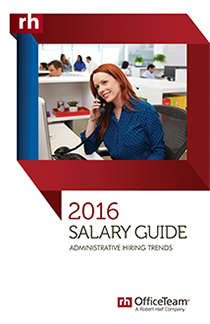 2016 OfficeTeam salary guide