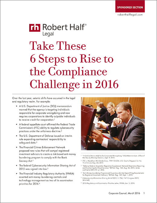 2016 Compliance Change White Paper