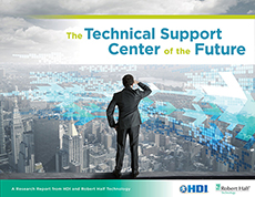 The cover of Robert Half Technology's report, The Technical Support Center of the Future