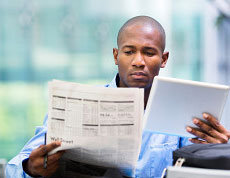 A Robert Half professional ponders an information technology staffing solution