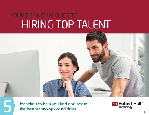 The cover of Your Definitive Guide to Hiring Top Talent from Robert Half