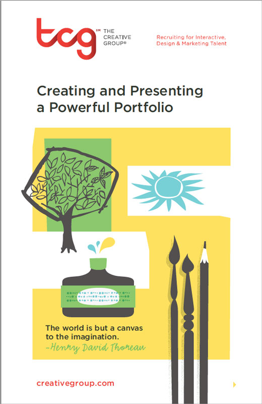 The cover of Creating and Presenting a Powerful Portfolio from The Creative Group