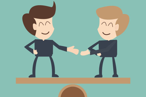 Salary Negotiations: 6 Do's and Don'ts | The Creative Group Two men shake hands after salary negotiations