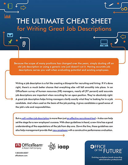The Ultimate Cheat Sheet for Writing Great Job Descriptions Infographic