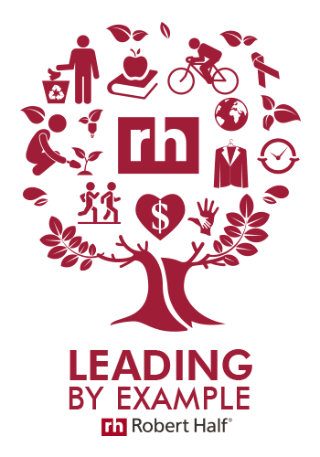 Robert Half Leading By Example logo