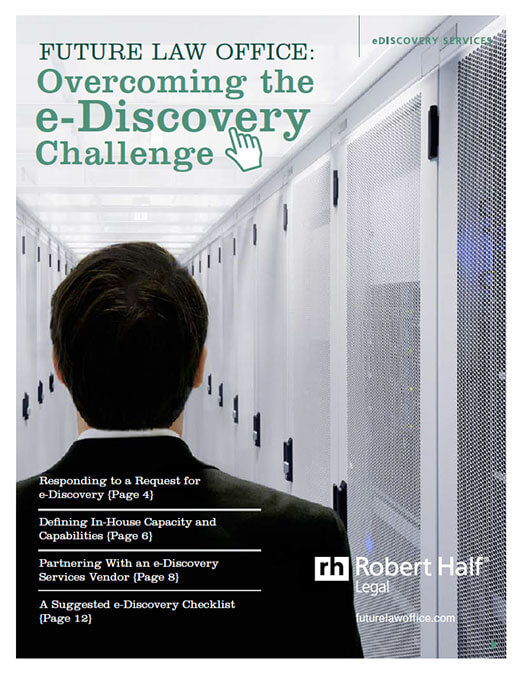 A thumbnail of the cover of the report, Overcoming the eDiscovery Challenge