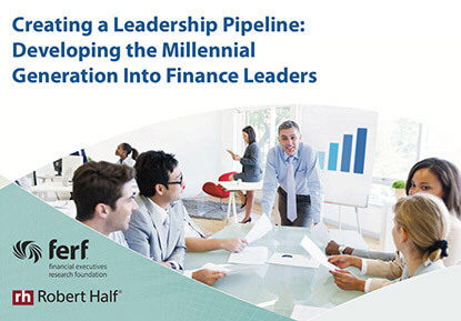 Start creating a leadership pipeline by developing the millennial generation into finance leaders