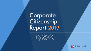 Corporate citizenship report 2019