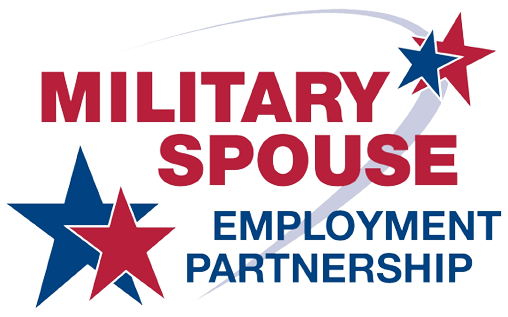 "A logo that says ""Military spouse employment partnership"""