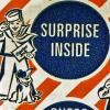 "Old Cracker Jack box with words ""surprise inside,"" likened to being a finance consultant"
