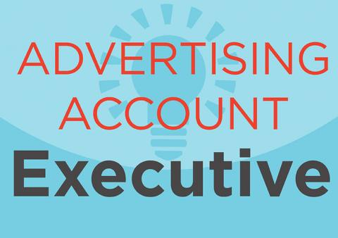 typographic image of the words advertising account executive