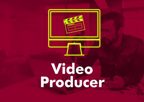 Typographic image of the words video producer.