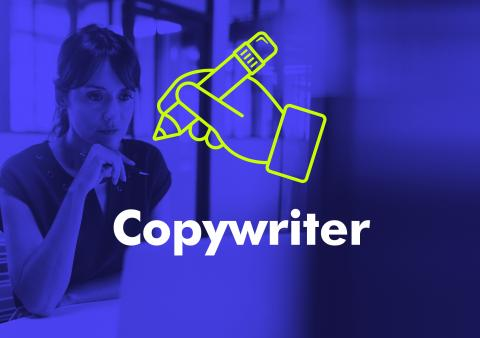 Typographic image featuring the word copywriter.