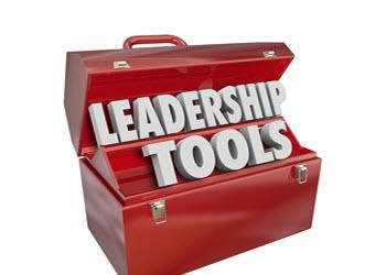 Tool box with words, leadership tools, used for strengthening leadership skills