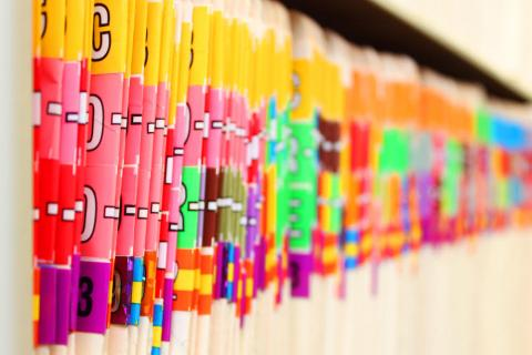 Certified Professional Coder: Is This a Career for You? — photo of color coded medical files.