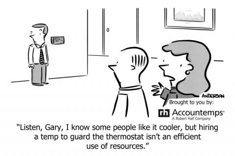 Cartoon that shows annoying workplace behavior