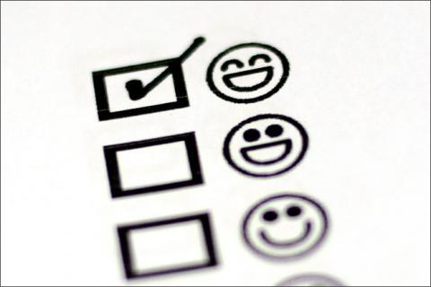 Checklist of happy faces