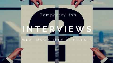 Question Mark: Temporary Job Interviews: What Makes Them Different?