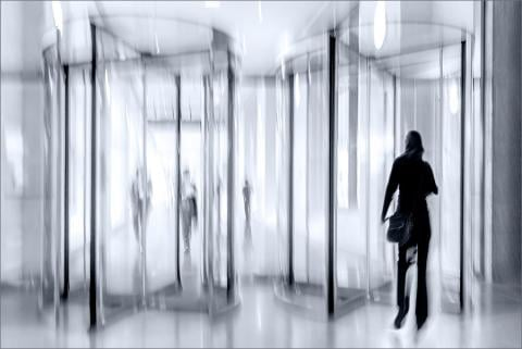 Revolving doors look like employee turnover