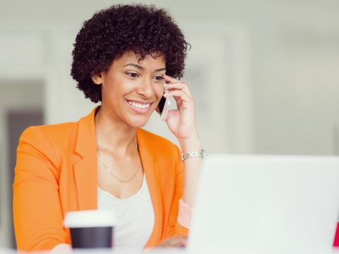 A hiring manager conducts a phone interview as part of the recruitment process