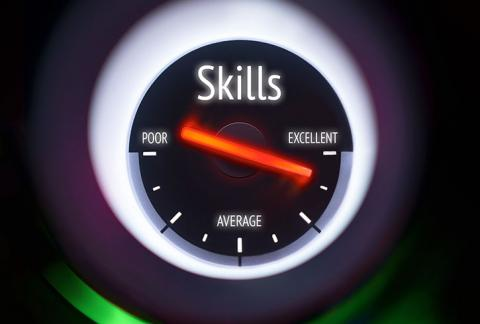 "An interpersonal skills ""meter"" ranging from ""poor"" skills to ""excellent"" skills."