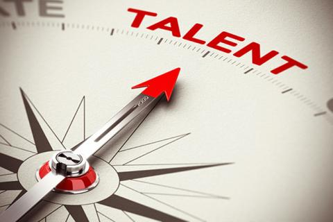 "Image of an arrow pointing to the word ""talent."""
