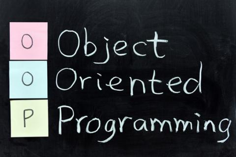 "Image says, ""object oriented programming."""