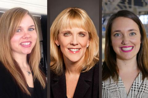 Left to Right: Stephanie Shupe, Senior Software Engineer, Lookout; Sheila Jordan, Chief Information Officer, Symantec Corporation; Aubrey Blanche, ‎Global Head of Diversity and Inclusion, Atlassian