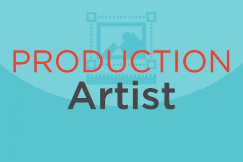 "Illustration of the words ""production artist."""