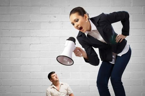 Woman yelling at her underling — could be a better boss