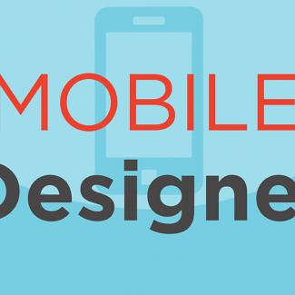 Typographic image of the words mobile designer.