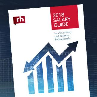 2018 Finance Salary Guide page