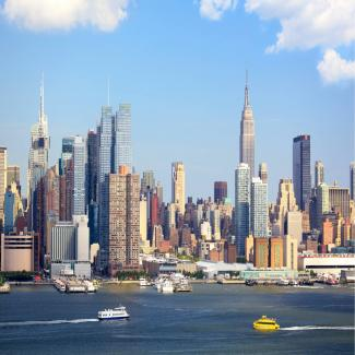 View of the New York skyline.