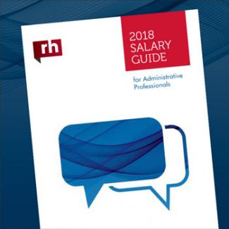 2018 Administrative Salary Guide page