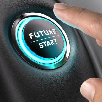 A dashboard button that reads: Future: Start.