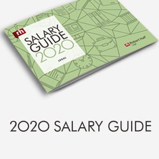 Robert Half Salary Guide 2020 Legal